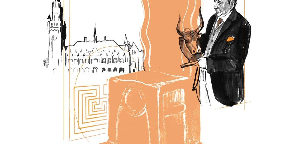 Replika Knowledge_ Repliken Wissen_Thron_Illustration_c Jan Stöwe