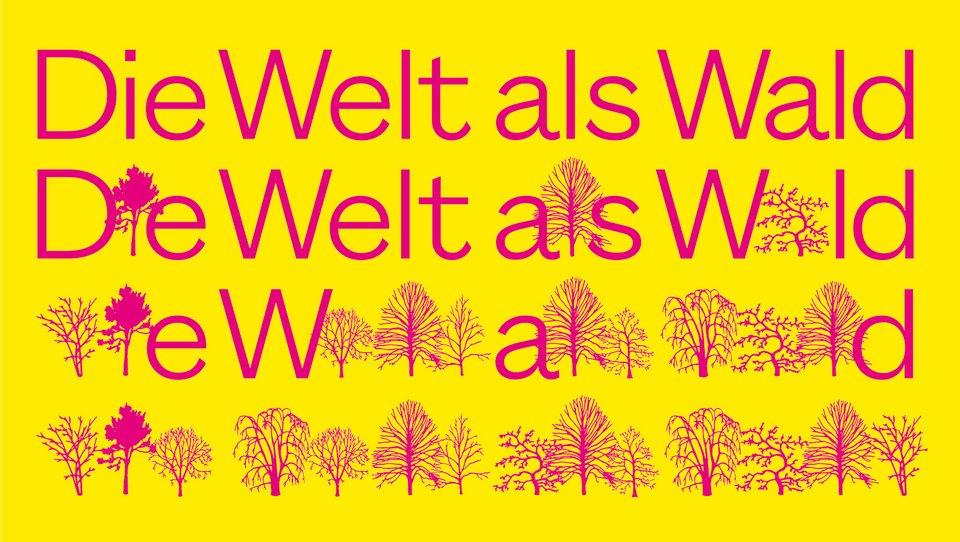 """""""Verschwindende Vermächtnisse: Die Welt als Wald"""", Grafik: Wolfgang Hückel für Reassembling the Natural"""
