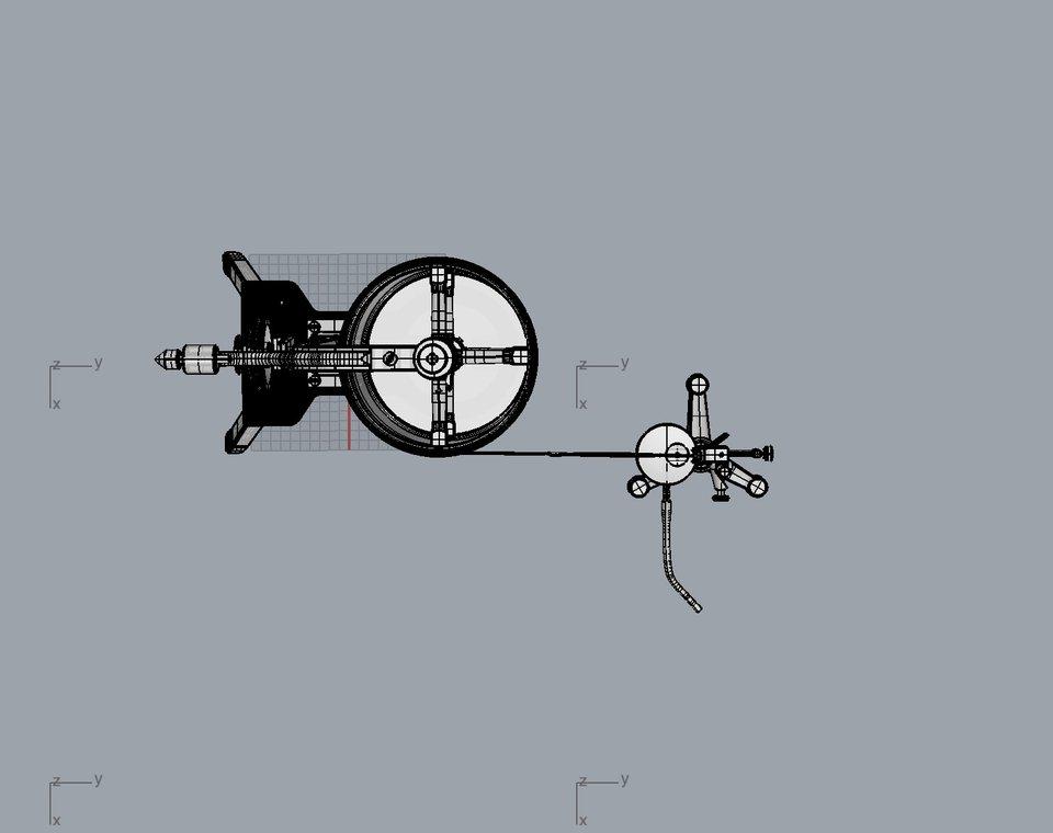 Zimmermann-Kymograph nach Zuntz, 3D-Modell: Ceyhun Altiok, 2018.